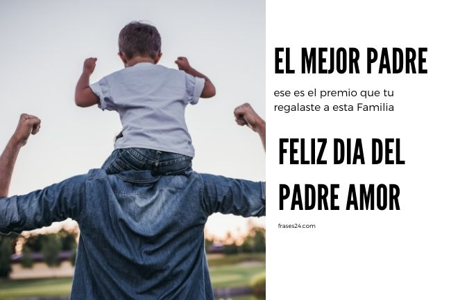 feliz dia del Padre amor